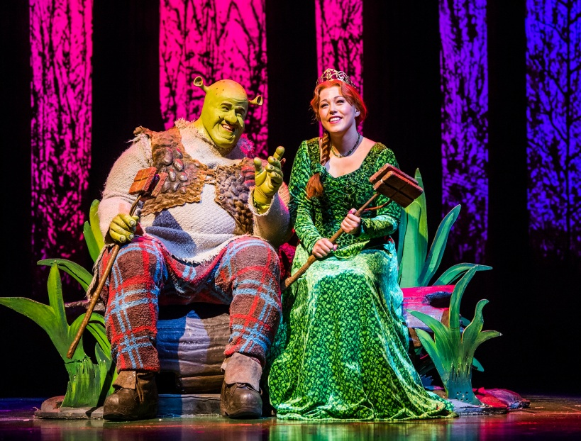 Steffan-Harri-and-Amelia-Lily-in-Shrek-the-Musical-UK-and-Ireland-tour-2018.-Credit-Tristram-Kenton.-4